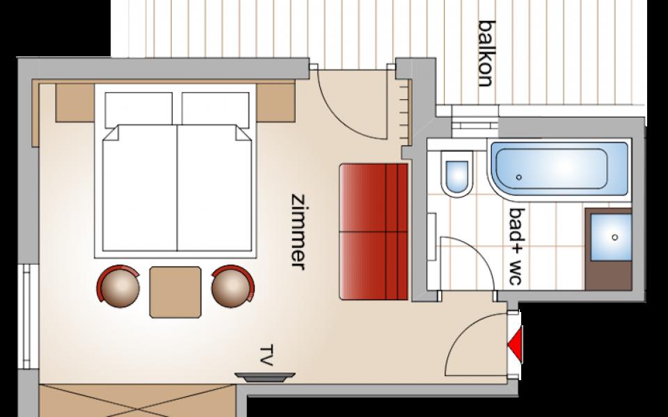 Doppelzimmer Gerlosbach